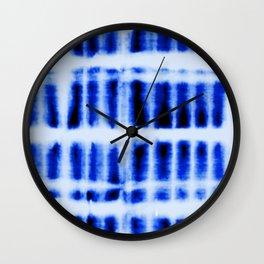 Shibori  Block Pattern Wall Clock