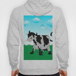 Cow on a meadow Hoody