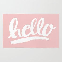 Hello Hand lettering - Pink Rug