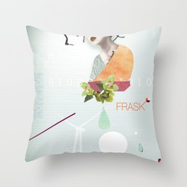 FRASK techno Throw Pillow
