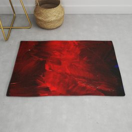 Red Abstract Paint | Corbin Henry Artist Rug