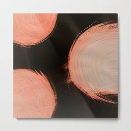 Fire ball, Abstract, Orange Flamengo Metal Print