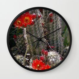 New Mexico Cactus Wall Clock