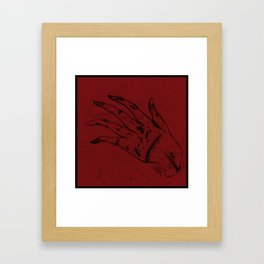 Hand and Wounds Framed Art Print