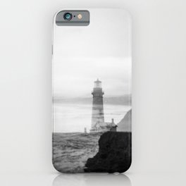 Ghostly Lighthouse - Yaquina Head Lighhouse in Newport, Oregon iPhone Case
