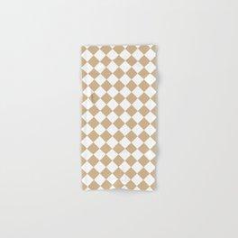 Diamonds - White and Tan Brown Hand & Bath Towel