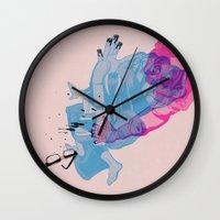 nerd Wall Clocks featuring Nerd /// Fight by Christopher Berry