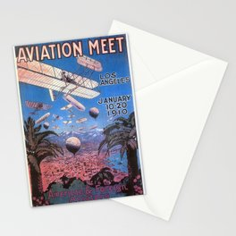 Vintage poster - Aviation Meet Stationery Cards
