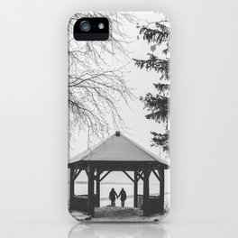 Winter is better with a friend iPhone Case