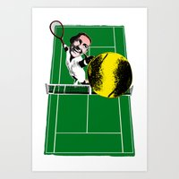 tennis Art Prints featuring Tennis by Pierre-Paul Pariseau