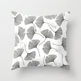 ginkgo biloba pattern Throw Pillow