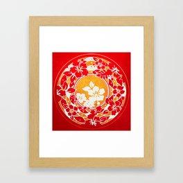 Hawaiian Red Gold Disc Framed Art Print