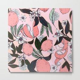 Flowering in the pink oranges Metal Print