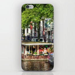 Amsterdam Houseboat on Canal iPhone Skin