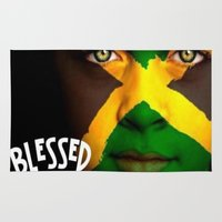 jamaica Area & Throw Rugs featuring Jamaica Love  by GoodVybz