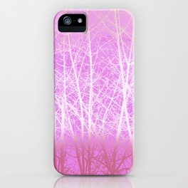 Frosted Winter Branches in Misty Pink iPhone Case