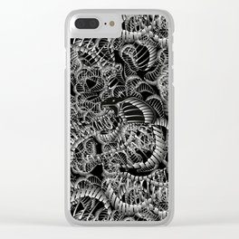 Cobra Snake Abstract Clear iPhone Case