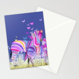 Paint the zebra Stationery Cards