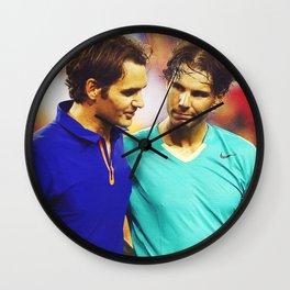 Federer & Nadal Tennis Wall Clock