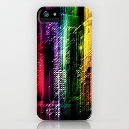 New York City in Living Color Landscape by Jeanpaul Ferro iPhone Case