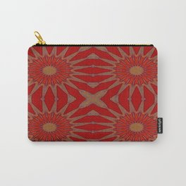 Autumn Red Pinwheel Flowers Carry-All Pouch