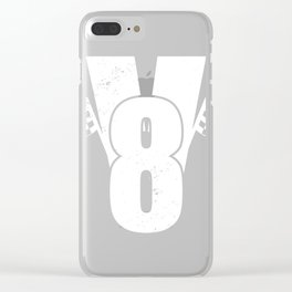 V8 with racing flags Clear iPhone Case