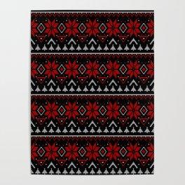 Scandinavian, knitting Poster