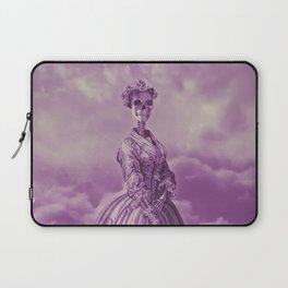 Lady Bonehead VINTAGE PURPLE / Skeleton portrait Laptop Sleeve