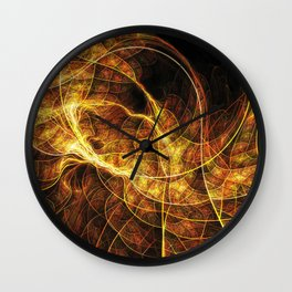 Fall Leaf Textures Wall Clock
