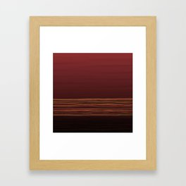 Horizon (red) Framed Art Print