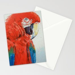 Crimson Macaw Stationery Cards