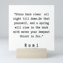 103      Rumi Quotes   190221 Mini Art Print