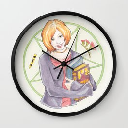 Willow Rosenberg of Buffy The Vampire Slayer Watercolor Portrait Illustration Wall Clock