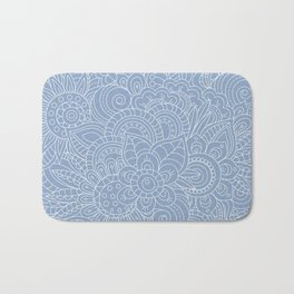 Background abstract flowers, doodleart, graphic-desing vector pattern. Bath Mat