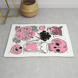 Pink Flash Page Rug