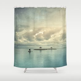 the art of silence Shower Curtain