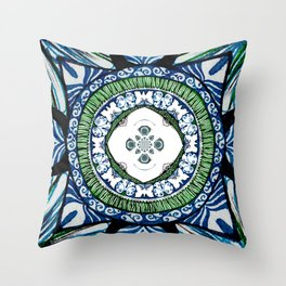 butterfly morris co ordinate  Throw Pillow