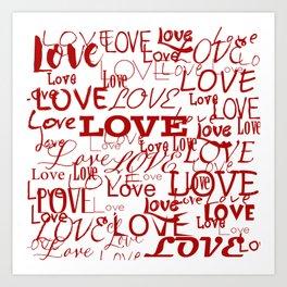 Love, love, love! Art Print