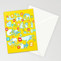 Yellow Alphabet Stationery Cards