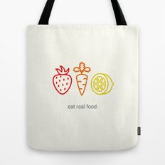Eat Real Food. (light) Tote Bag