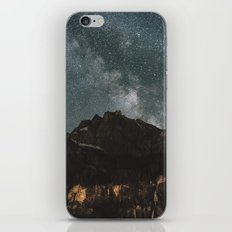 Space Night Mountains - Landscape Photography iPhone & iPod Skin