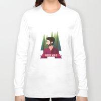 derek hale Long Sleeve T-shirts featuring DEREK HALE - FORREST by UniversoAlternativo