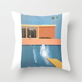 Hockney A Bigger Splash Throw Pillow