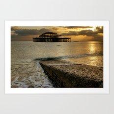 West Pier Brighton Art Print