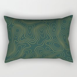 Topographic Map 01B Rectangular Pillow