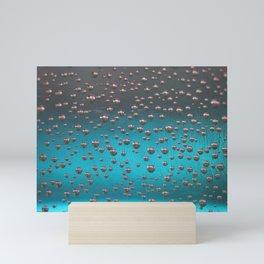 Blue soap bubble macro Mini Art Print