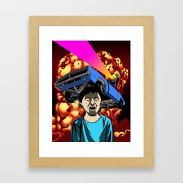 Explosion Kid Framed Art Print