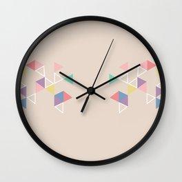 Geometric Tri Wall Clock