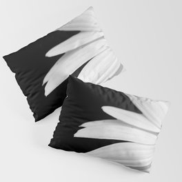 Half Daisy in Black and White Pillow Sham