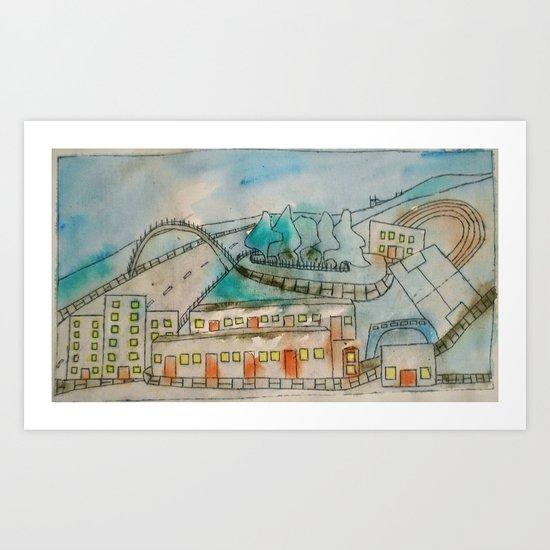 Livingston sports centre. Art Print